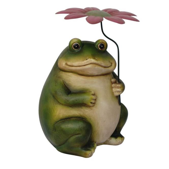 Create Your Own Funny Garden Pond Frog Ceramic Craft Statue