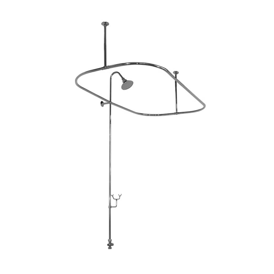 american bath factory 4300 shower ring 58 75 in to 58 75 in satin nickel fixed enclosure shower rod