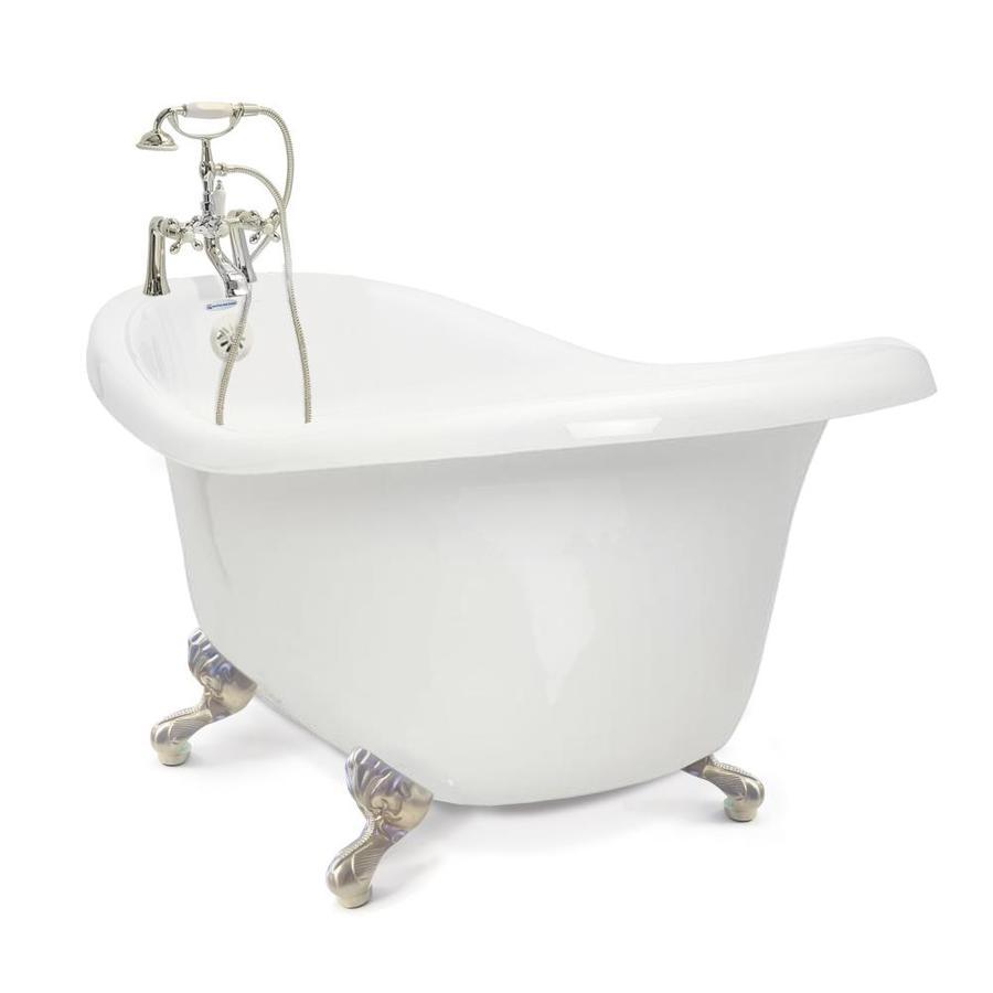 Shop American Bath Factory Chelsea 60 In White Acrylic