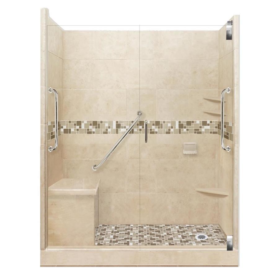 american bath factory freedom grand brown sugar tuscany satin nickel 40 piece 60 in x 36 in x 80 in alcove shower kit