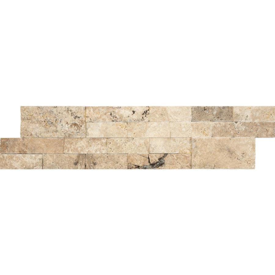 anatolia tile 6 pack philadelphia ledgestone 6 in x 24 in natural natural stone travertine wall tile