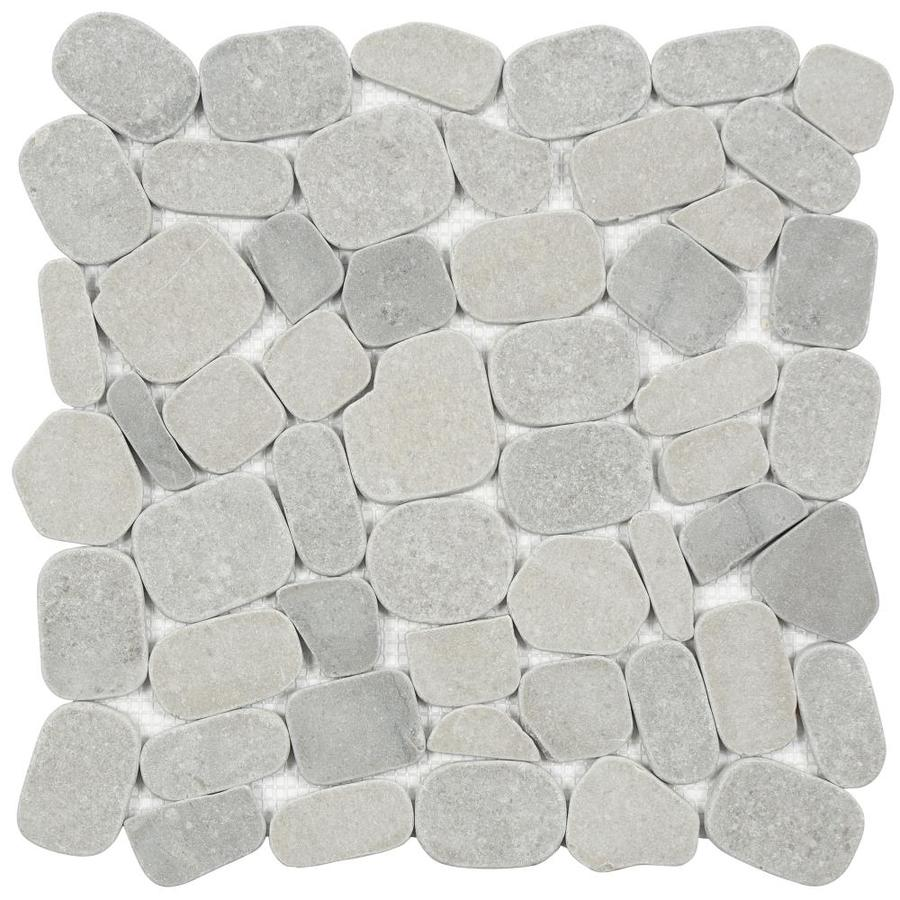 satori 10 pack mixed grey blend 12 in x 12 in honed natural stone pebble floor and wall tile