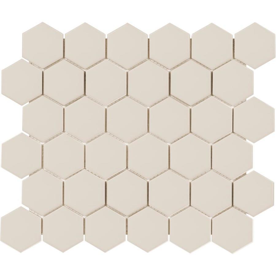 satori hudson fog gray 11 in x 12 in matte porcelain hexagon wall tile