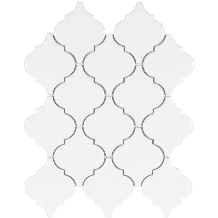 satori hudson brilliant white 11 in x 13 in glossy porcelain lantern wall tile lowes com