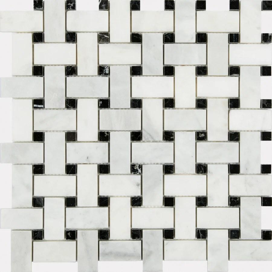 satori venatino polished 12 in x 12 in polished natural stone marble basketweave wall tile