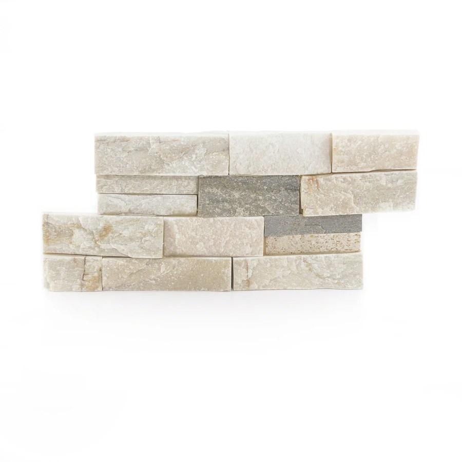satori desert quartz ledgestone 6 in x 12 in natural natural stone quartz wall tile