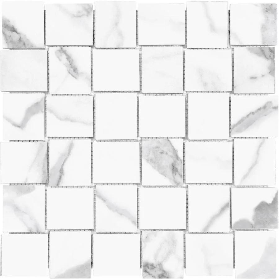 matte porcelain basketweave mosaic tile
