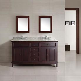 Ove Decors Dustin Tobacco Undermount Double Sink Bathroom Vanity With Granite Top Common