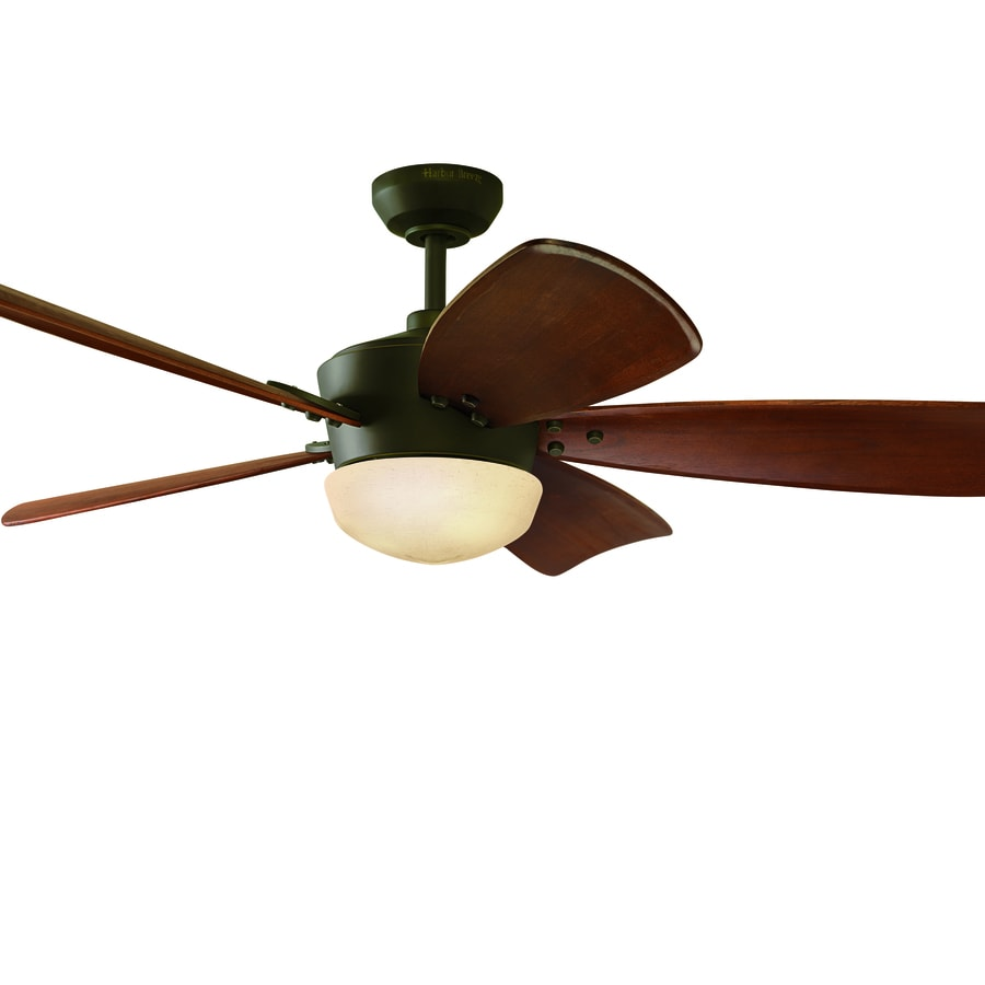 Harbor Breeze Saratoga 60 In Oil Rubbed Bronze Indoor Ceiling Fan With Light Kit