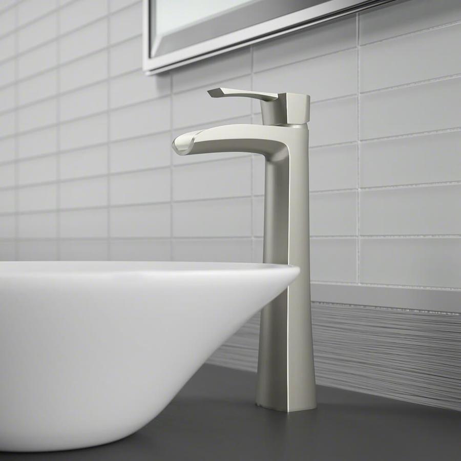 sir faucet brushed nickel 1 handle vessel watersense bathroom sink faucet
