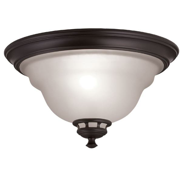 Shop Project Source Fallsbrook 13 in W Dark Oil Rubbed Bronze     Project Source Fallsbrook 13 in W Dark Oil Rubbed Bronze Ceiling Flush Mount