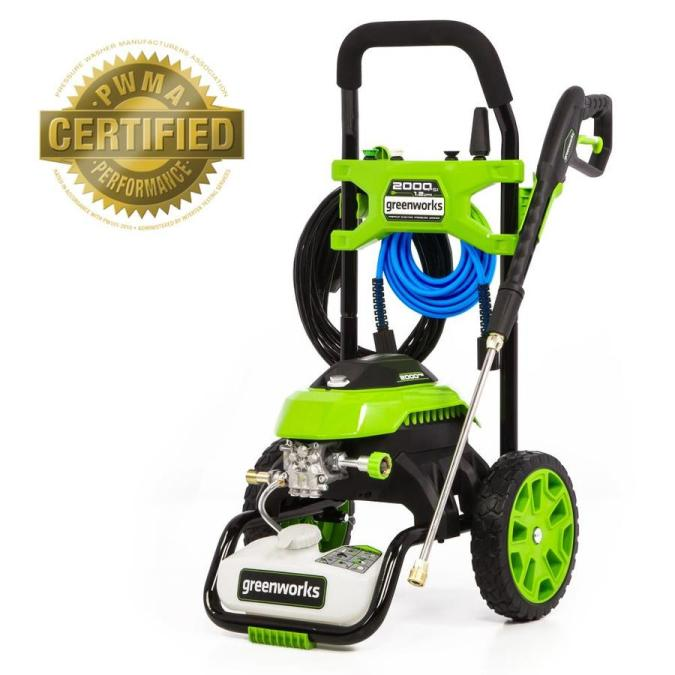 Greenworks 2000 Psi 1 2 Gpm Cold Water