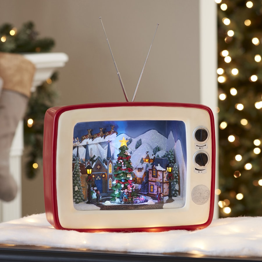Shop Holiday Living Pre Lit Musical Tv With Carolers With