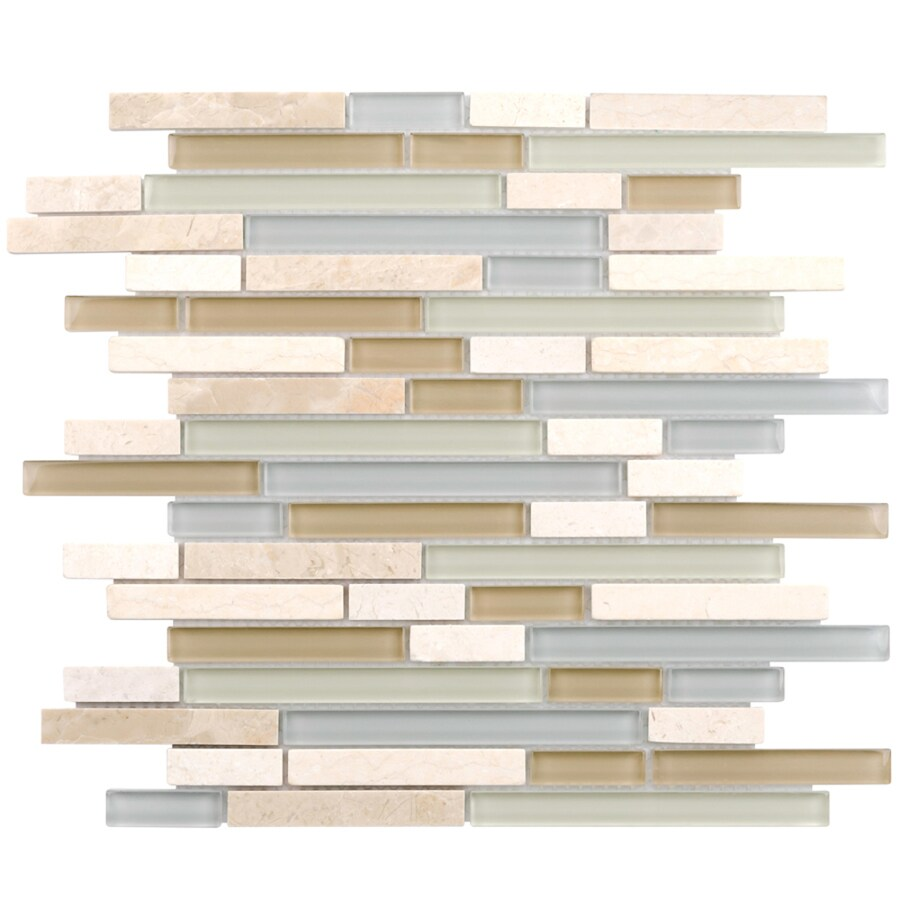elida ceramica dunes falls 12 in x 12 in glossy glass stone marble linear wall tile