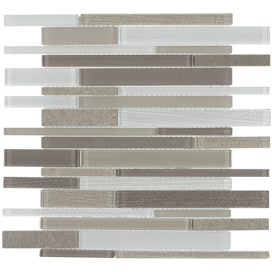 allen roth desert bluff 12 in x 12 in linen look glass stone marble linear wall tile lowes com