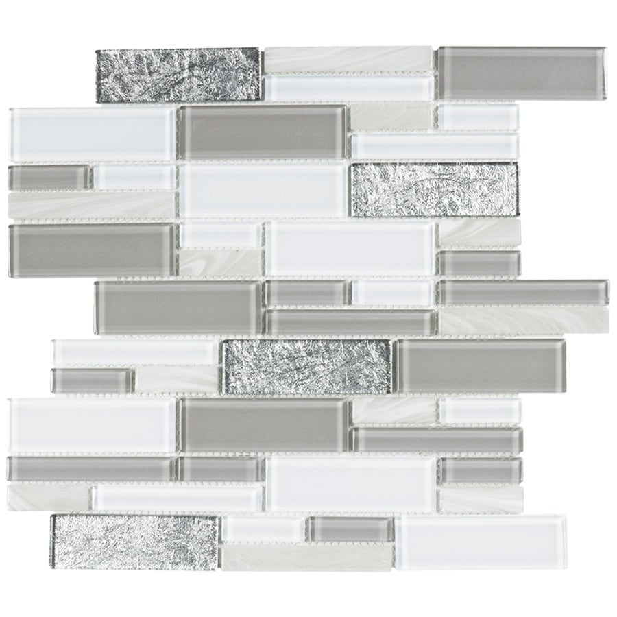 elida ceramica blended luxor linear glass 12 in x 12 in glossy glass linear wall tile