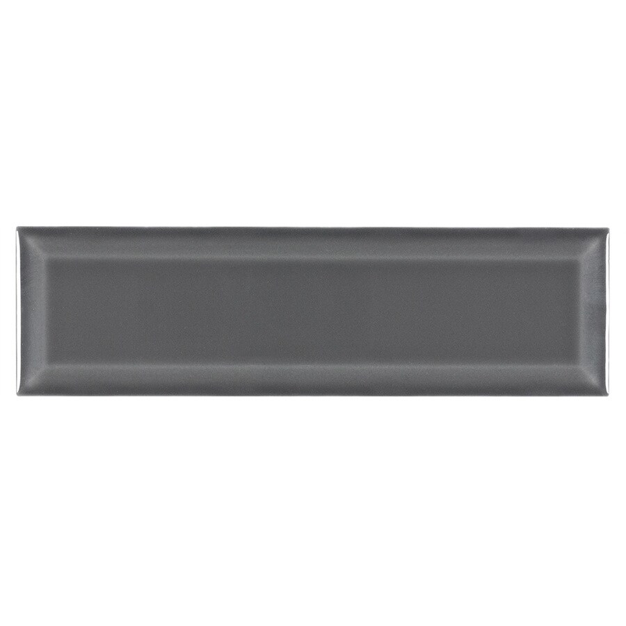 boutique ceramic boutique gray 3 in x 9 in glazed ceramic subway wall tile lowes com