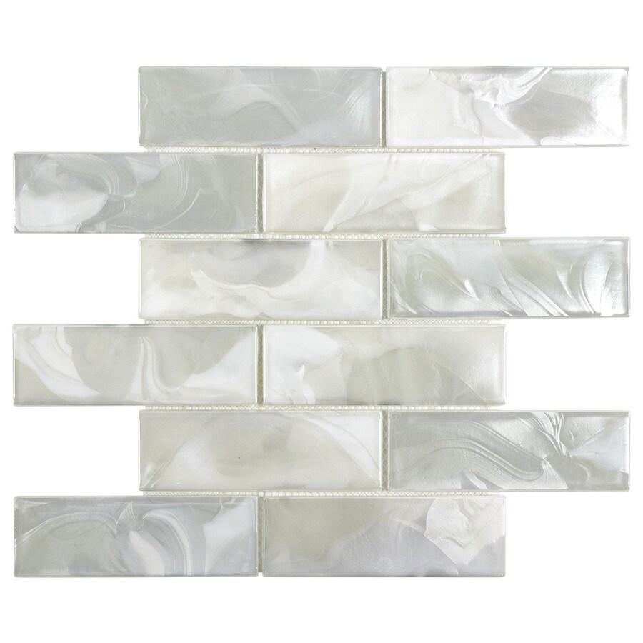 glossy glass brick subway wall tile
