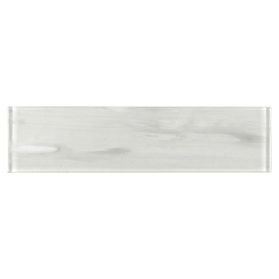 elida ceramica white 3 in x 12 in glossy glass subway wall tile