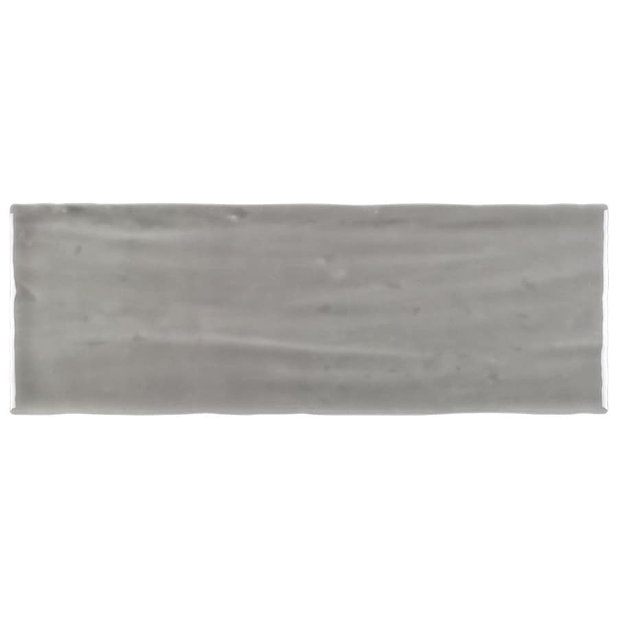 boutique ceramic boutique crafted grey 5x14 5 in x 14 in glazed ceramic subway wall tile lowes com