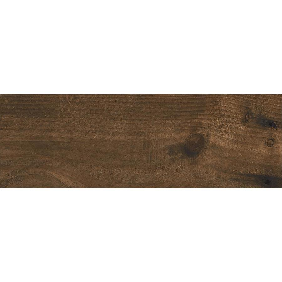 ceramicas tesany acadia brown brown matte 8 in x 24 in glazed ceramic wood look floor tile