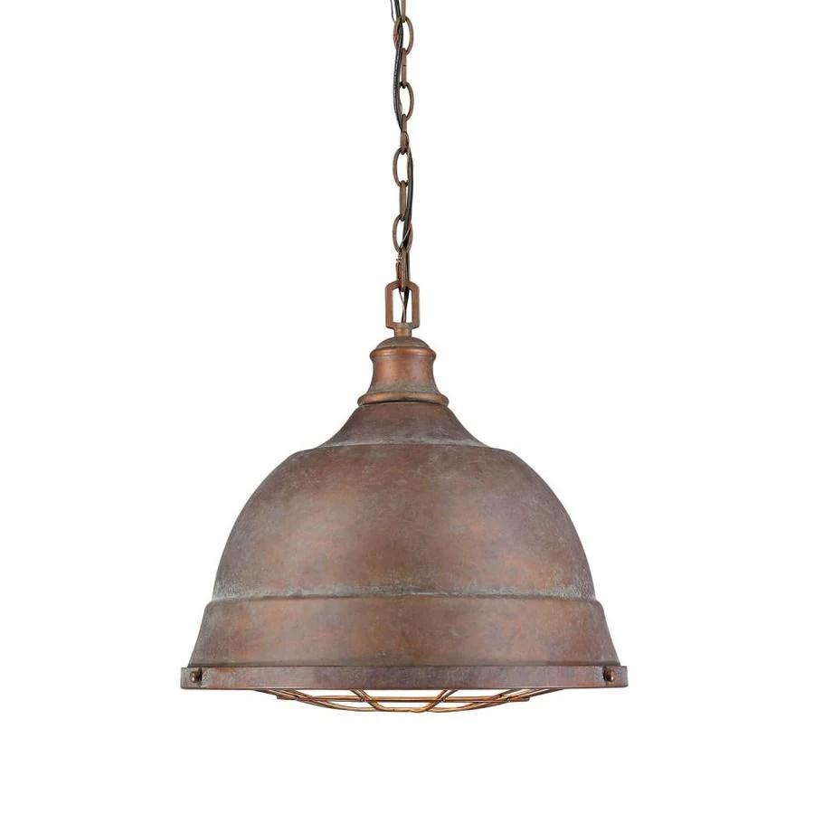 golden lighting bartlett copper patina rustic dome pendant light