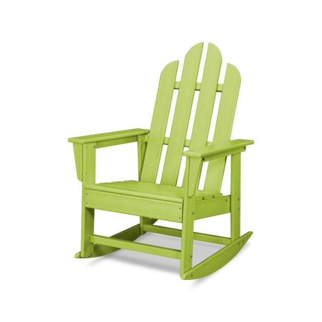 shop polywood long island lime plastic patio rocking chair at lowes