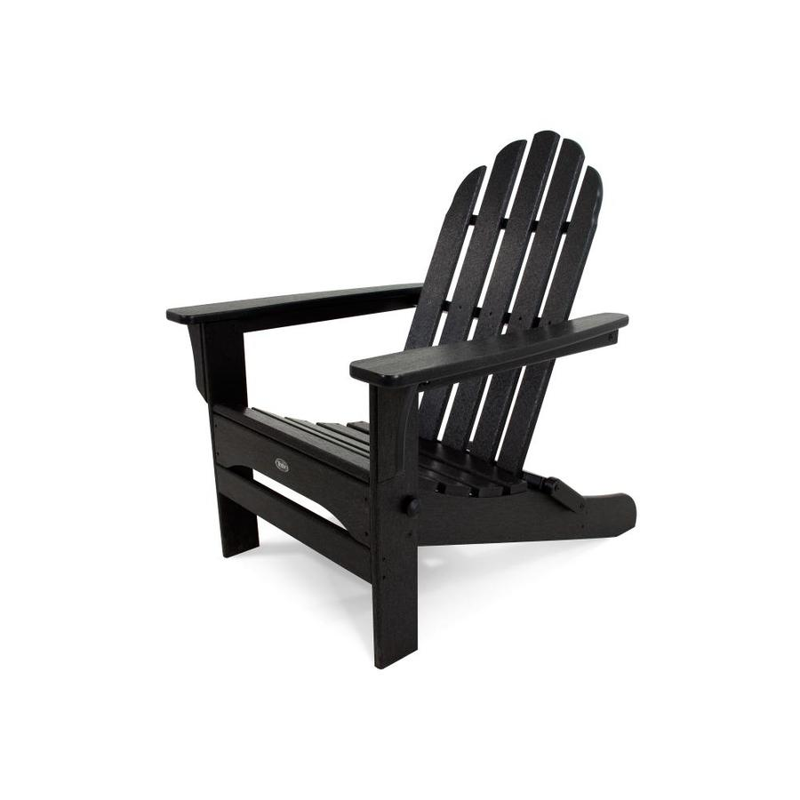 trex outdoor furniture cape cod charcoal black plastic frame stationary adirondack chair s with slat seat seat