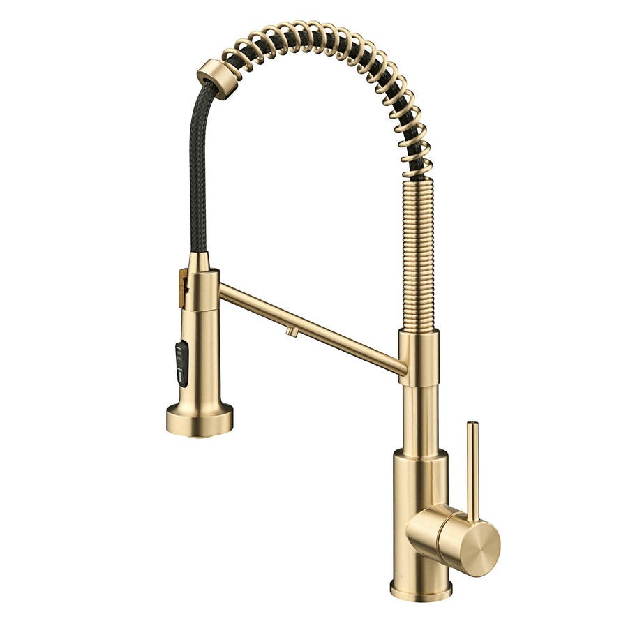kraus kraus bolden 2 in 1 commercial style pull down single handle water filter kitchen faucet for reverse osmosis or water filtration system in spot