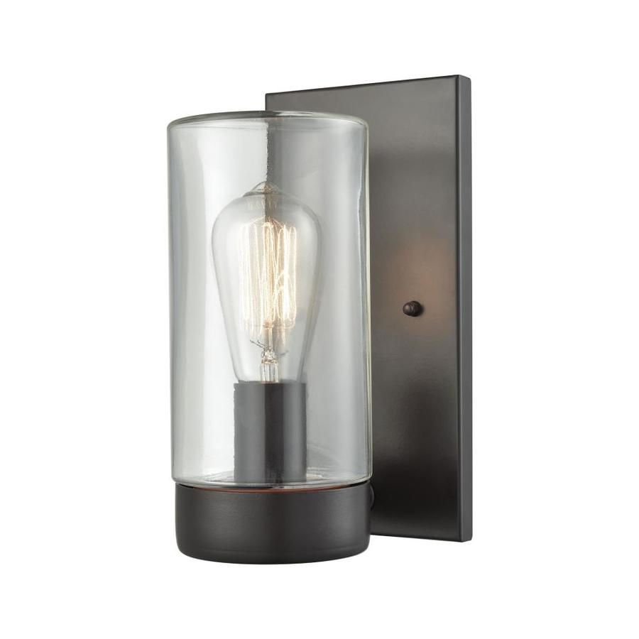 westmore by elk lighting brampton 5 in w 1 light oil rubbed bronze transitional wall sconce