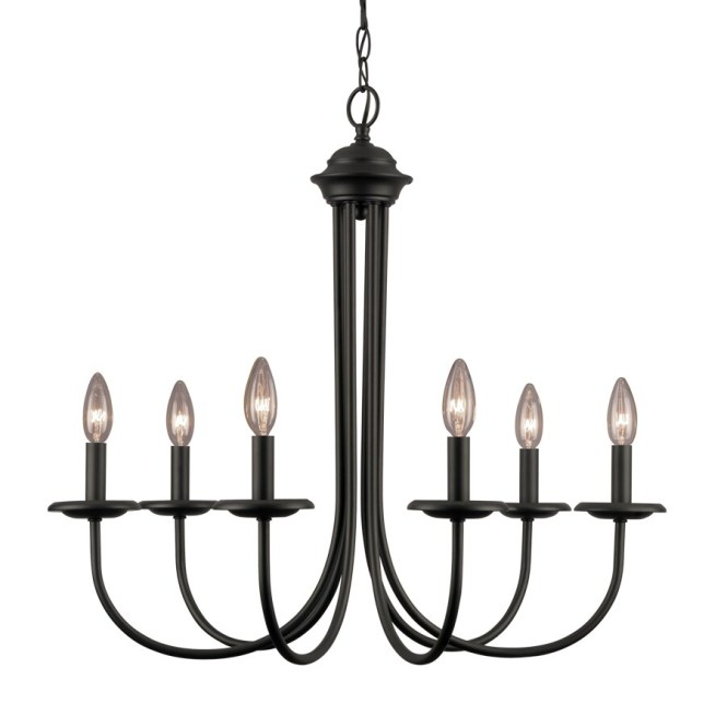 Portfolio 26 5 In 6 Light Black Linear Chandelier
