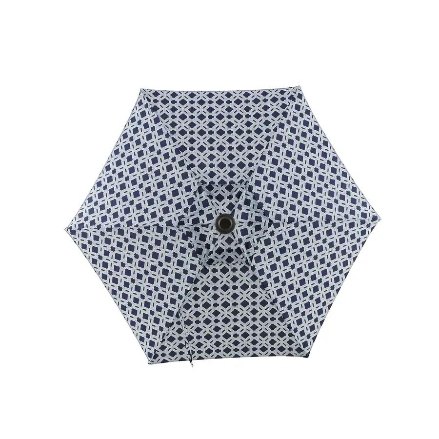 style selections 7 5 ft isleworth textured no tilt market patio umbrella