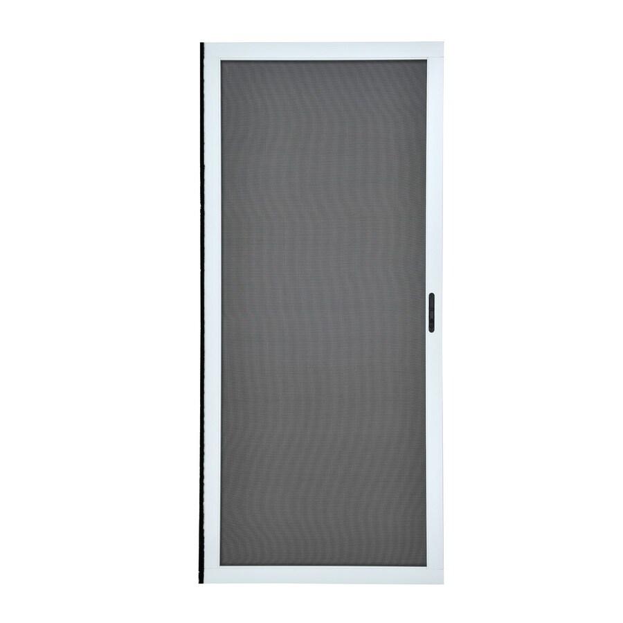 grisham 36 in x 80 in white aluminum frame sliding screen door
