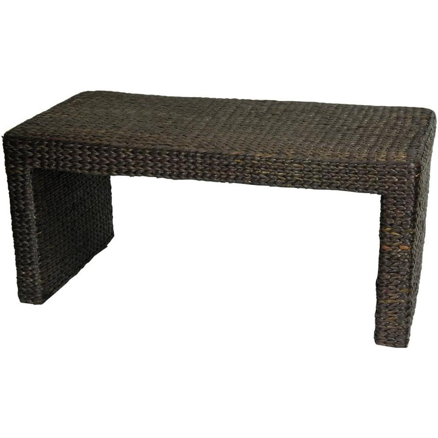 red lantern black wicker coffee table in the coffee tables department at lowes com