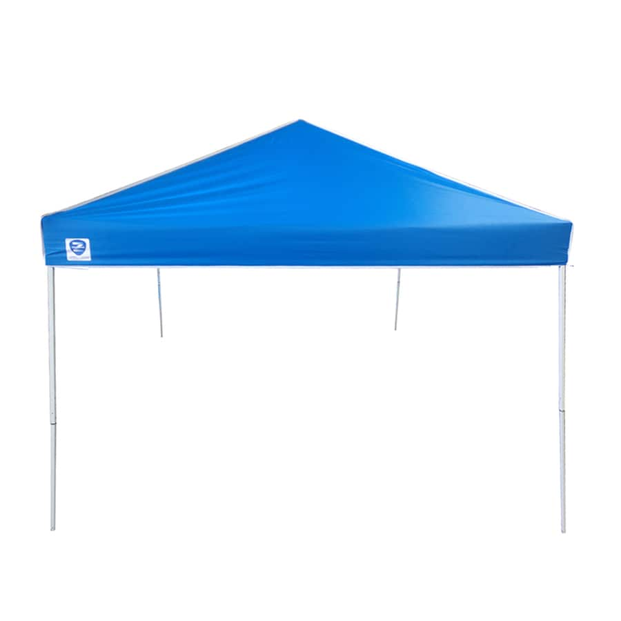 z shade 12 ft l square blue pop up canopy