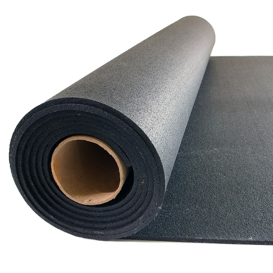 Shop NuTek 48 In X 120 In Black Loose Lay Rubber Sheet At