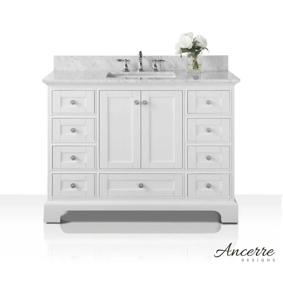 shop ancerre designs audrey white undermount single sink bathroom
