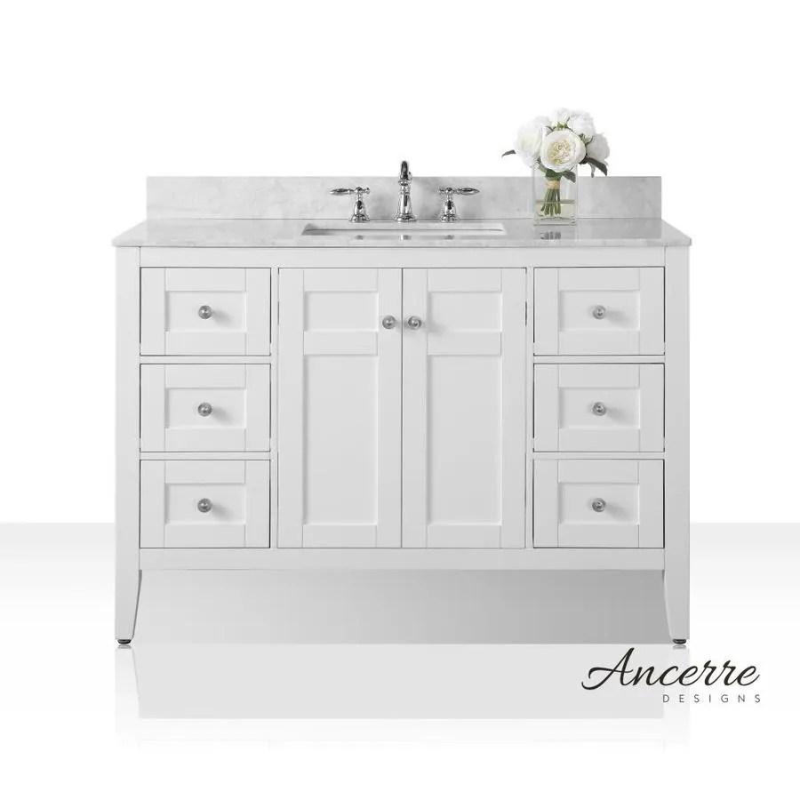 shop ancerre designs maili white undermount single sink bathroom
