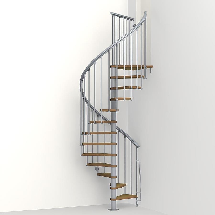 Arke Nice1 51 In X 10 Ft Gray Spiral Staircase Kit At | Spiral Staircase 10 Feet