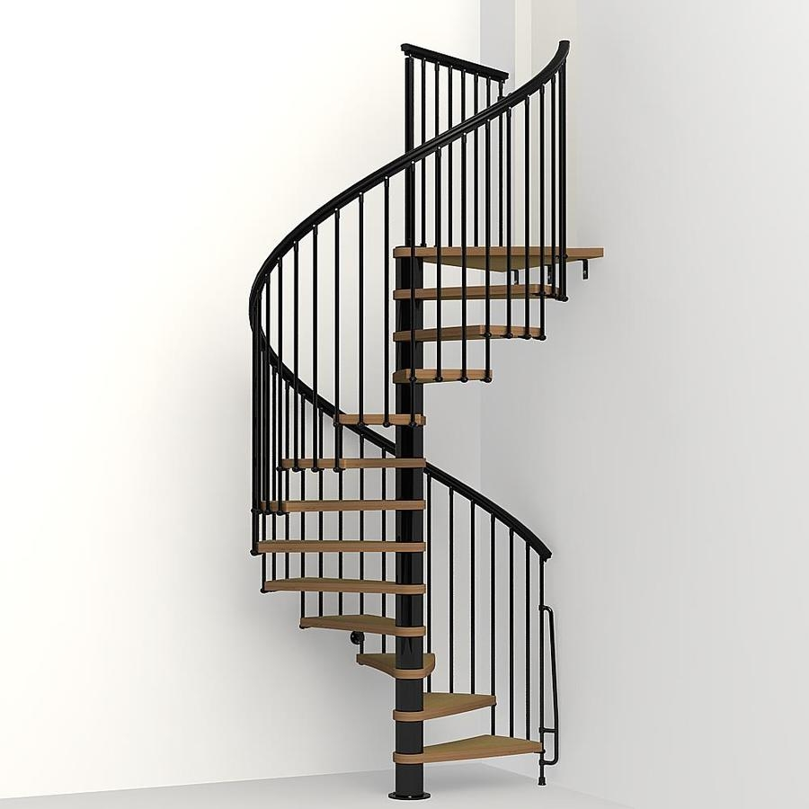 Arke Nice1 63 In X 10 Ft Black Spiral Staircase Kit At | Spiral Staircase 10 Feet