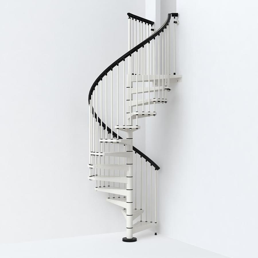 Arke Sky030 55 In X 10 Ft White Spiral Staircase Kit At | Spiral Staircase 10 Feet