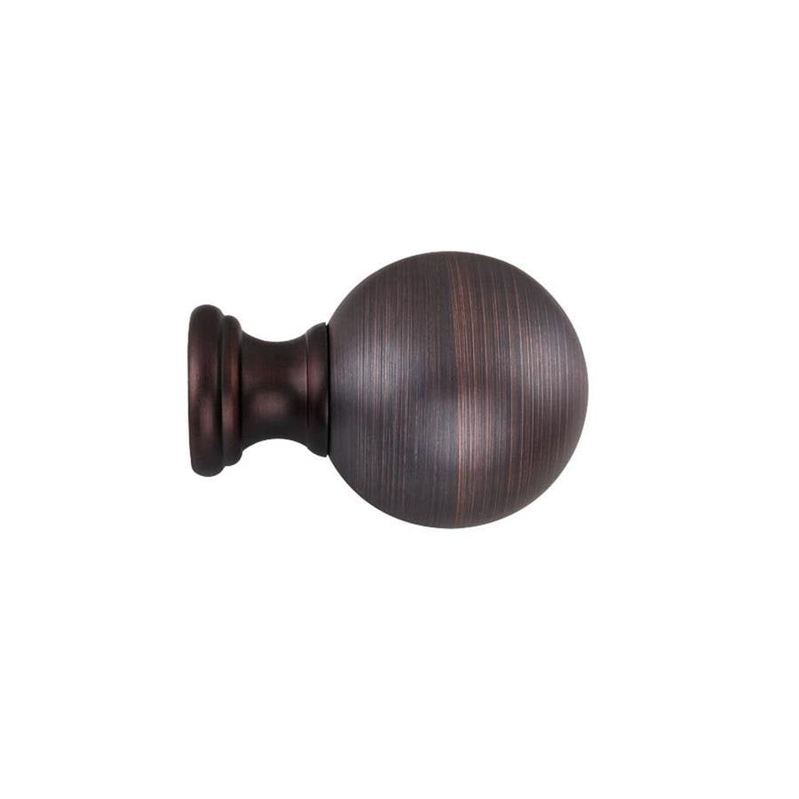 oil rubbed bronze curtain rod finials