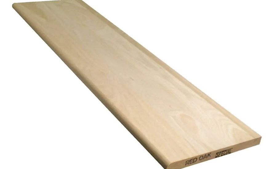 Shop Stairtek 11 5 In X 42 In Unfinished Red Oak Wood | Unfinished Oak Stair Treads