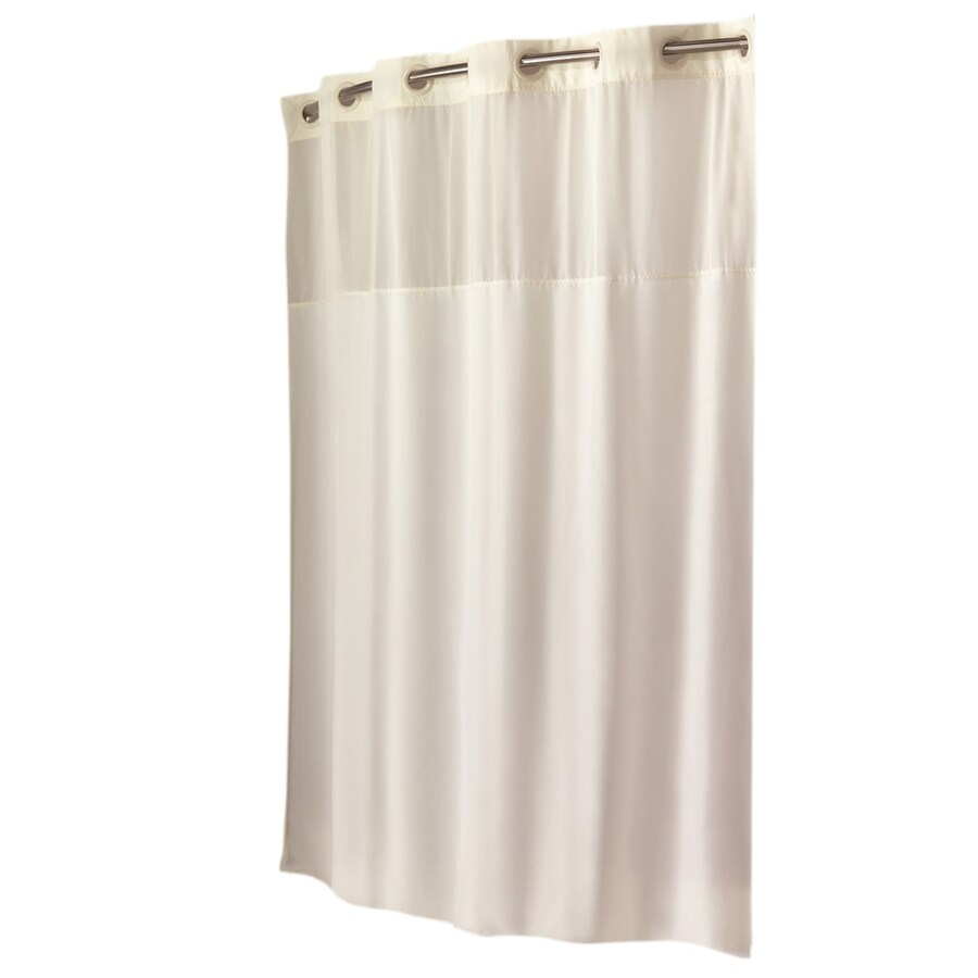 https www lowes com pd hookless polyester beige solid shower curtain 74 in x 71 in 50060473