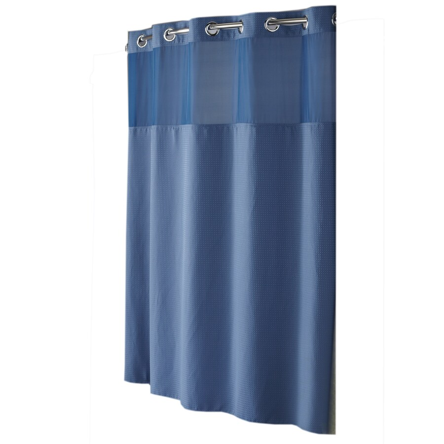 hookless polyester moonlight blue diamond pique solid shower curtain 74 in x 71 in