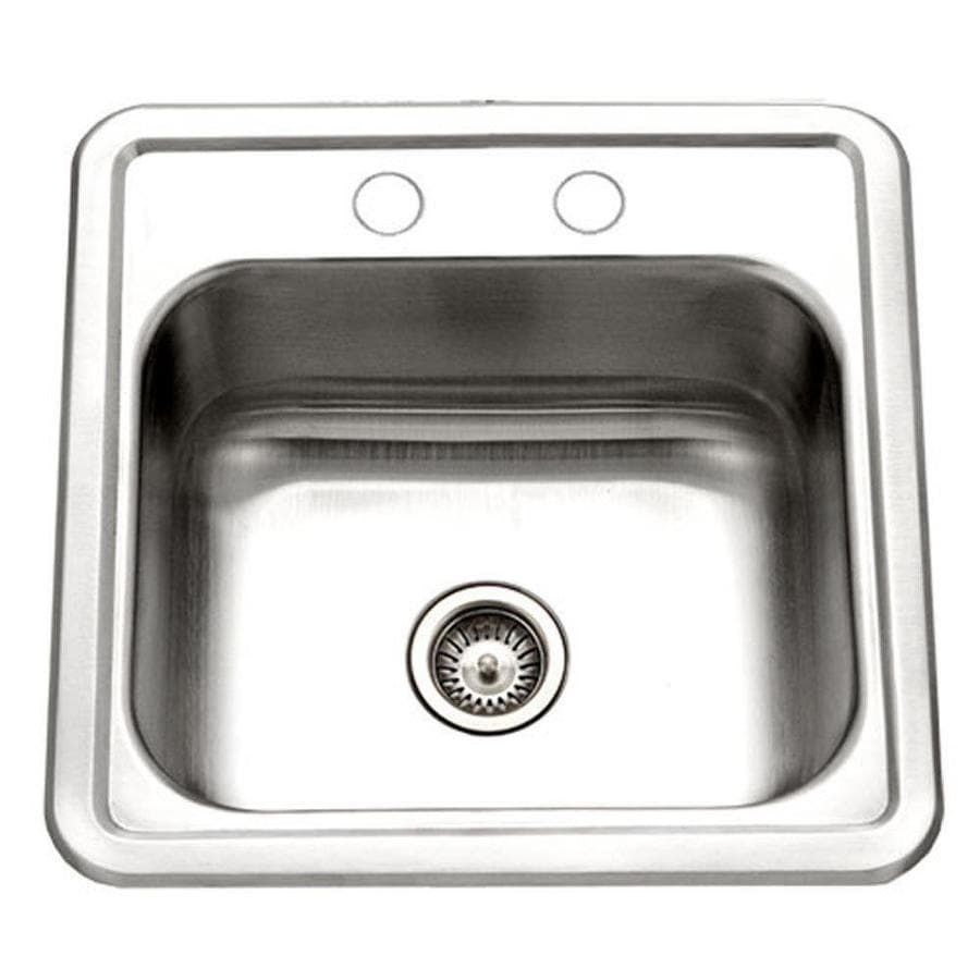houzer hospitality lustrous satin stainless steel drop in residential bar sink