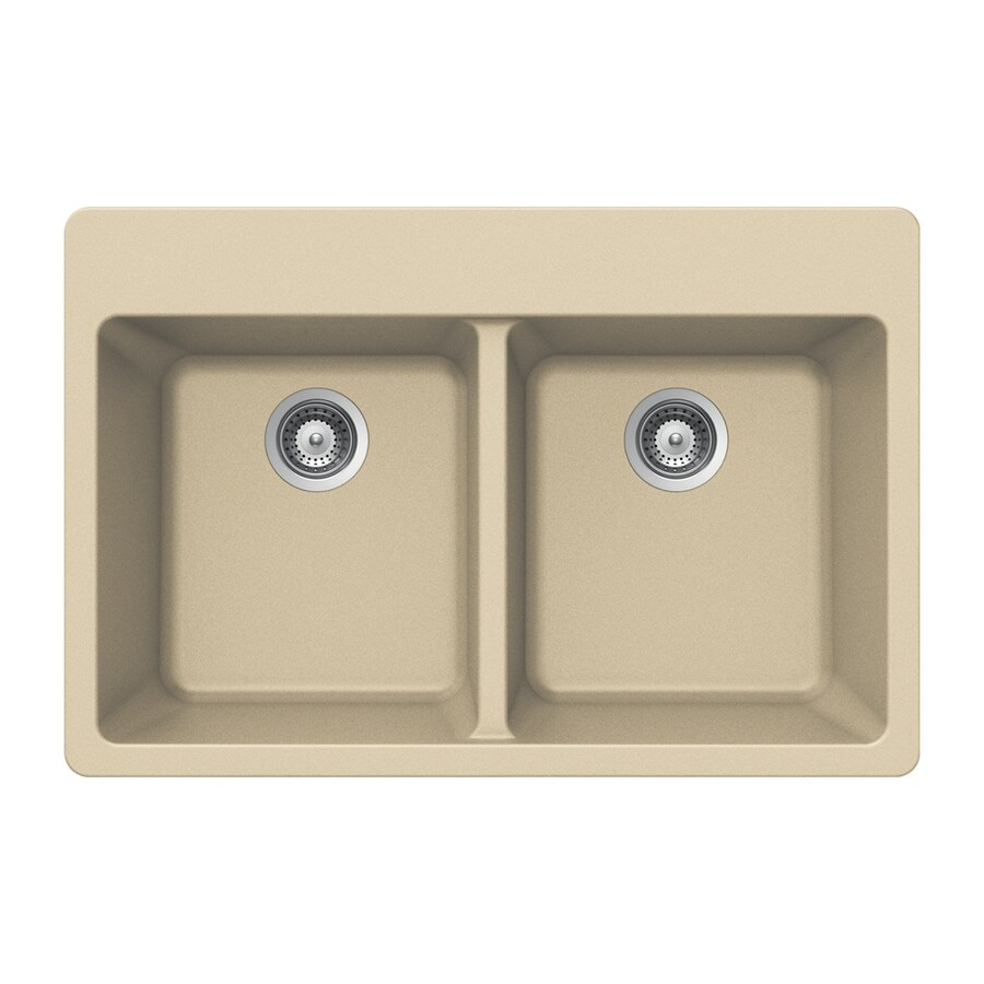 houzer drop in 33 in x 22 in colorado double equal bowl 4 hole kitchen sink