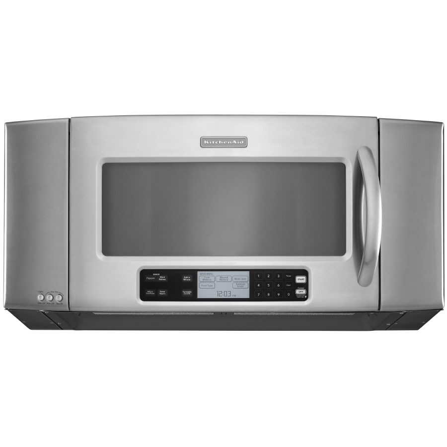 kitchenaid 2 cu ft over the range microwave with sensor cooking controls stainless steel common 36 in actual 35 875 in