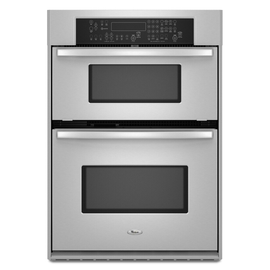 whirlpool 29 75 inch microwave wall oven combo color stainless steel