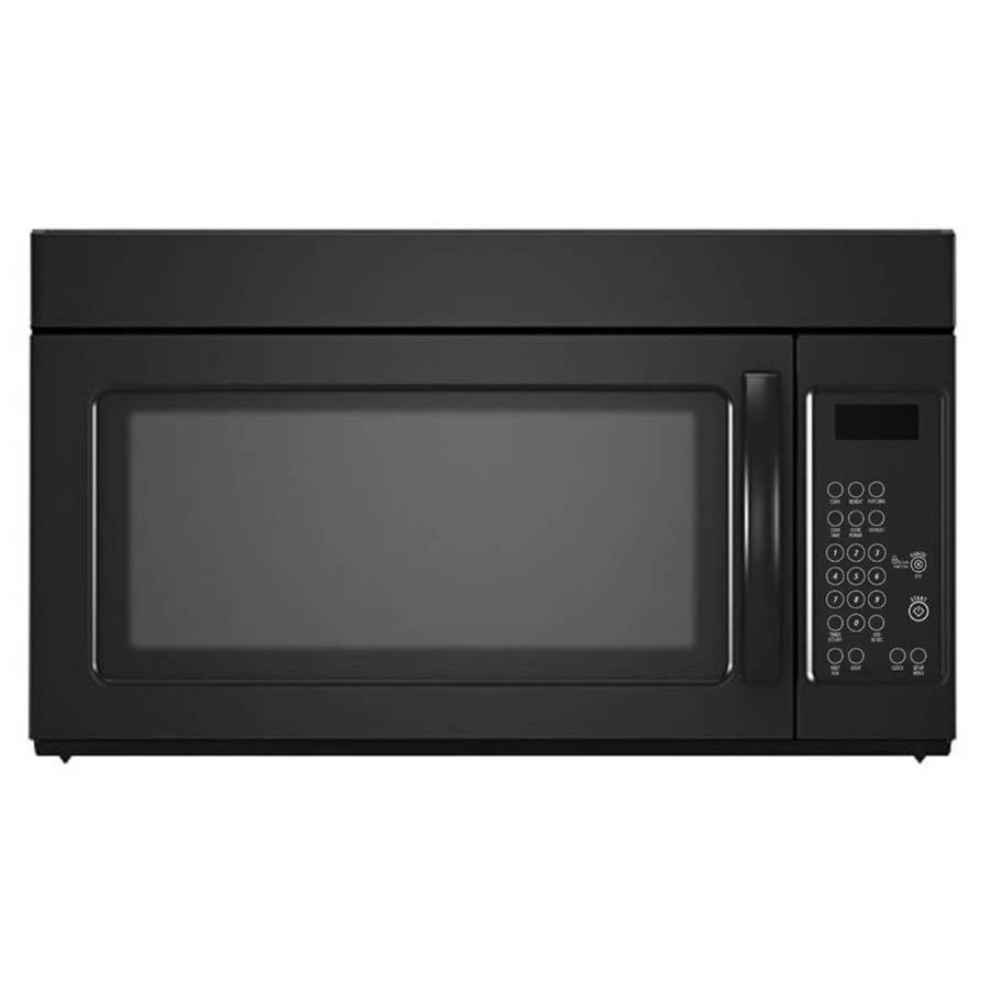 1 6 cu ft over the range microwave black lowes com